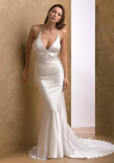 Silk weding dress