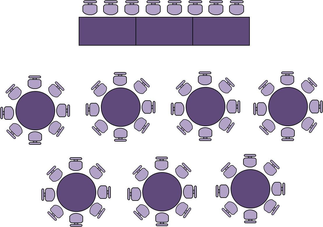 banquet table setup template
