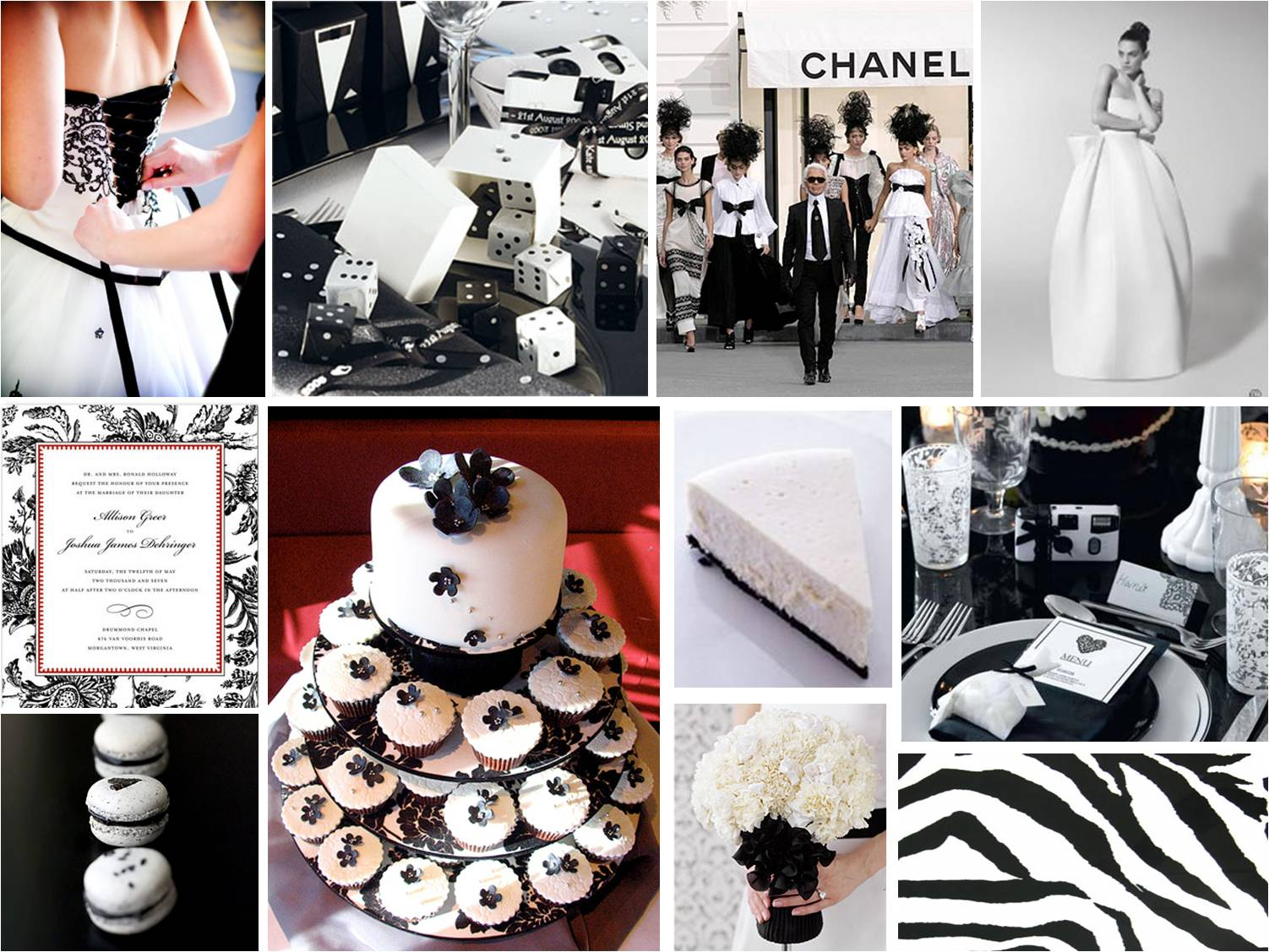 Black and white weddng theme need some ideas for All white wedding theme pictures