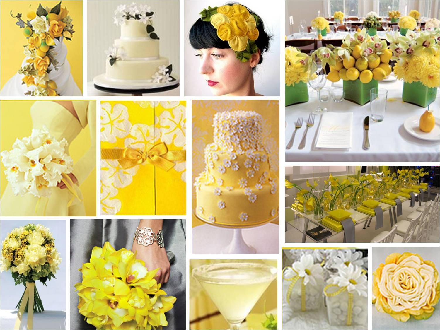 Mellow Yellow is a fresh summer wedding theme combining both pastel and