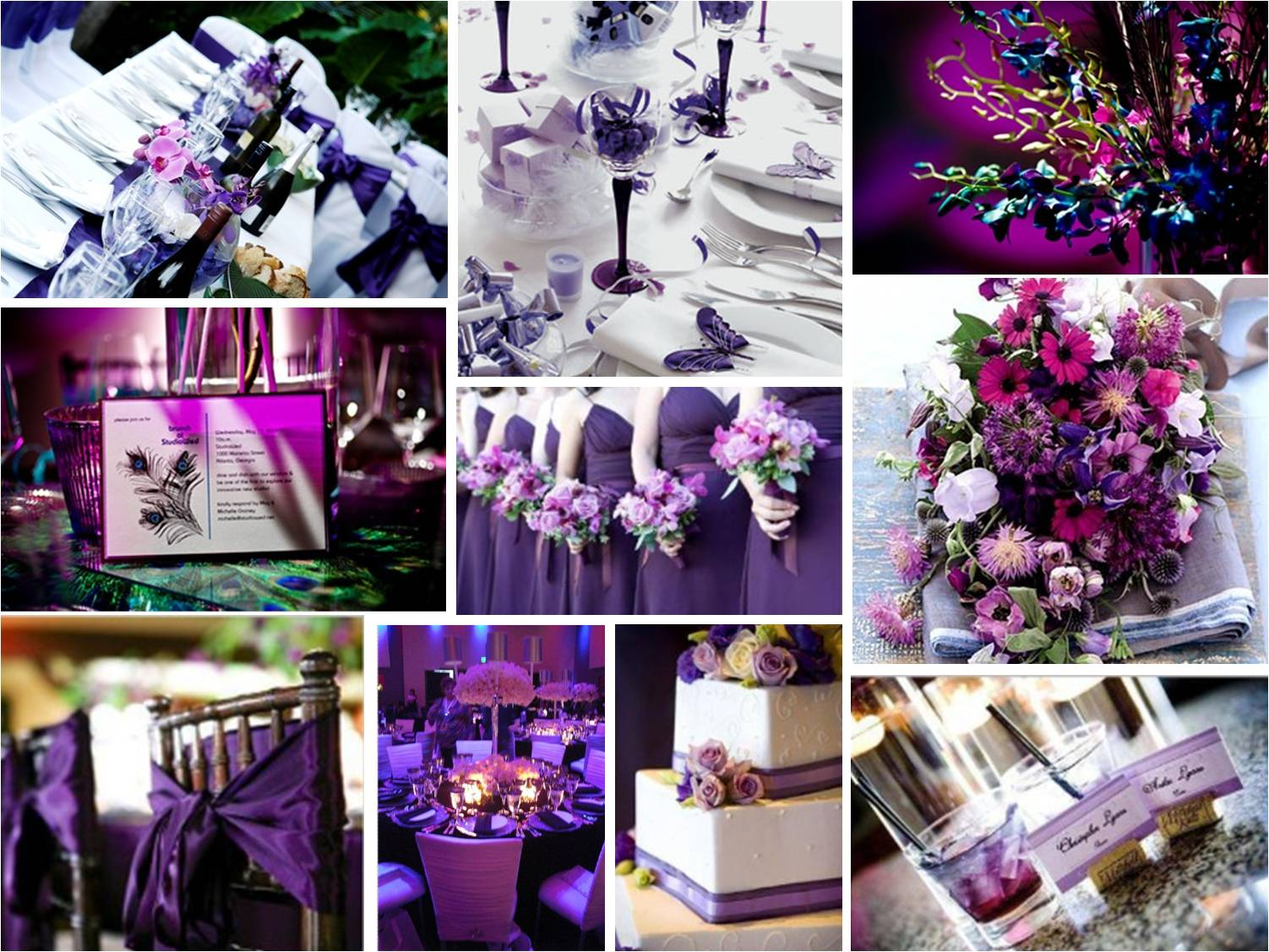 Wedding theme ideas: Purple colour scheme