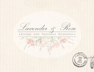 Lavender and Rose postcard